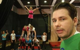 Helastinen & Annis Linnanmäen sirkuskoulussa